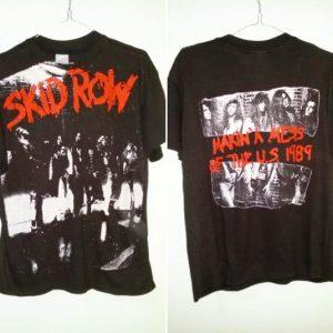 Vintage Fullprint Skid Row 1989-1990 Makin Mess of the USA