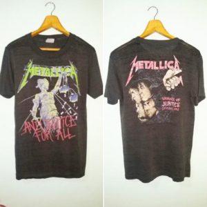 Vintage Metallica Pushead trashed paperthin 1988