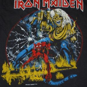 VINTAGE IRON MAIDEN THE # OF THE BEAST 1982 TOUR T-SHIRT *