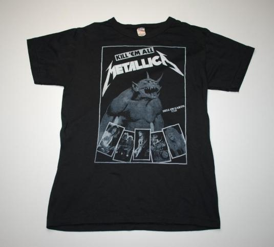 VINTAGE METALLICA '84 CANCELLED HELL ON EARTH TOUR T-SHIRT *