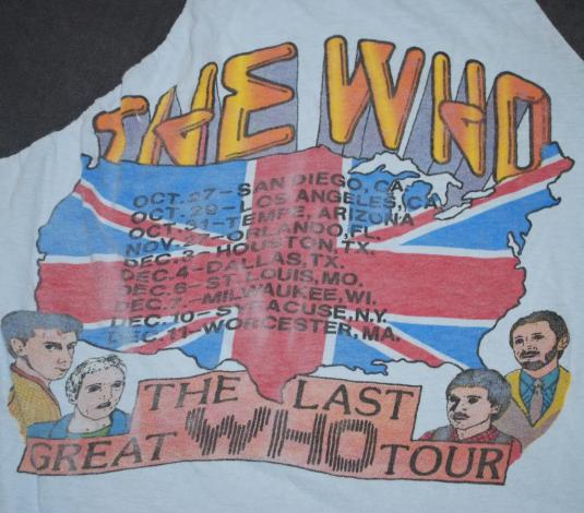 VINTAGE THE WHO INVADES AMERICA 1983 TOUR T-SHIRT *