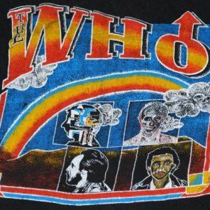 VINTAGE THE WHO LONG LIVE ROCK 1982 FAREWELL TOUR T-SHIRT *