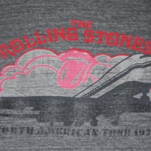 VINTAGE THE ROLLING STONES 1972 AMERICAN TOUR T-SHIRT *