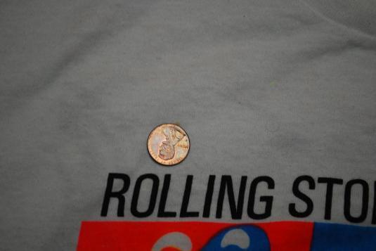 VINTAGE THE ROLLING STONES 1989 WORLD TOUR T-SHIRT *