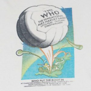 VINTAGE THE WHO 1976 PUT THE BOOT IN TOUR T- SHIRT*