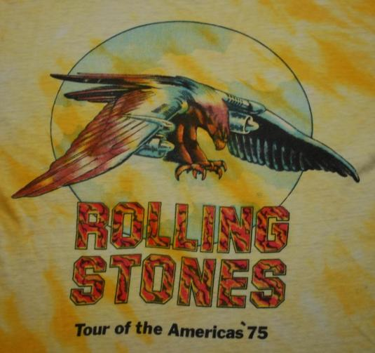 VINTAGE THE ROLLING STONES 75 TOUR OF THE AMERICAS T-SHIRT *