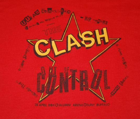 VINTAGE CLASH 1984 OUT OF CONTROL SONY BUFFALO T-SHIRT *
