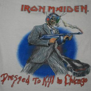 VINTAGE IRON MAIDEN '87 DRESSED TO KILL IN CHICAGO T-SHIRT *