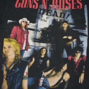 VINTAGE GUNS N ROSES HERE TODAY GONE TO HELL 1980S T-SHIRT *