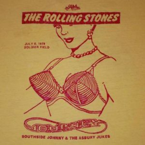 VINTAGE THE ROLLING STONES 1978 CHICAGO T- SHIRT *