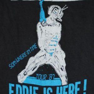 VINTAGE IRON MAIDEN 1987 SOMEWHERE IN TIME TOUR T-SHIRT *