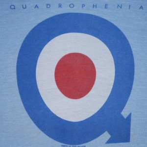 VINTAGE THE WHO ORIGINAL 1973 QUADROPHENIA T- SHIRT *