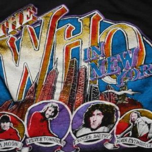 VINTAGE THE WHO MADISON SQUARE GARDEN SOLD OUT '79 T-SHIRT *
