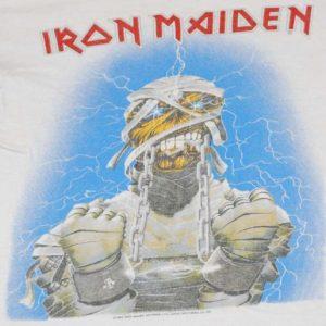 VINTAGE IRON MAIDEN 1985 WORLD SLAVERY TOUR T-SHIRT *