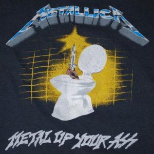 VINTAGE METALLICA 1980'S METAL UP YOUR ASS TOUR T-SHIRT *