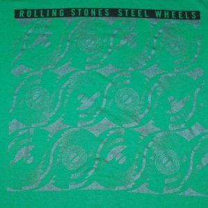 VINTAGE THE ROLLING STONES '89 STEEL WHEELS TOUR T-SHIRT *
