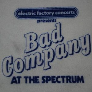 VINTAGE ELECTRIC FACTORY CONCERTS BAD COMPANY T-SHIRT *