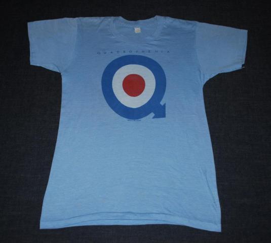 VINTAGE THE WHO ORIGINAL 1973 QUADROPHENIA T- SHIRT *