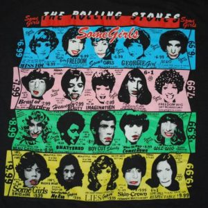 VINTAGE THE ROLLING STONES 1989 SOME GIRLS TOUR T-SHIRT *
