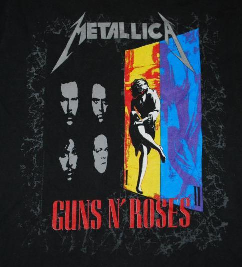 VINTAGE '92 GUNS N ROSES & METALLICA FAITH NO MORE T-SHIRT *