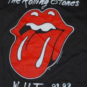 VINTAGE THE ROLLING STONES 81-82 WORLD TOUR T-SHIRT *