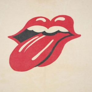 VINTAGE THE ROLLING STONES 1970'S TONGUE T-SHIRT *