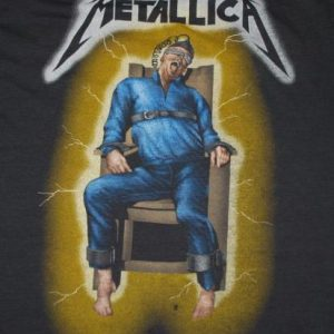 VINTAGE METALLICA RIDE THE LIGHTNING 1985 US TOUR T-SHIRT *