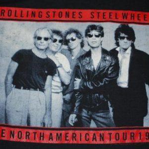 VINTAGE THE ROLLING STONES 1989 STEEL WHEELS TOUR T-SHIRT *