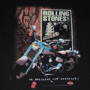 VINTAGE THE ROLLING STONES 1994 LIVE STATE OF MIND T-SHIRT *