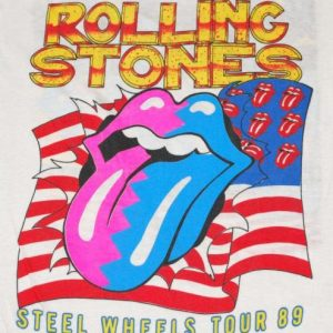 VINTAGE THE ROLLING STONES '89 NORTH AMERICAN TOUR T-SHIRT *