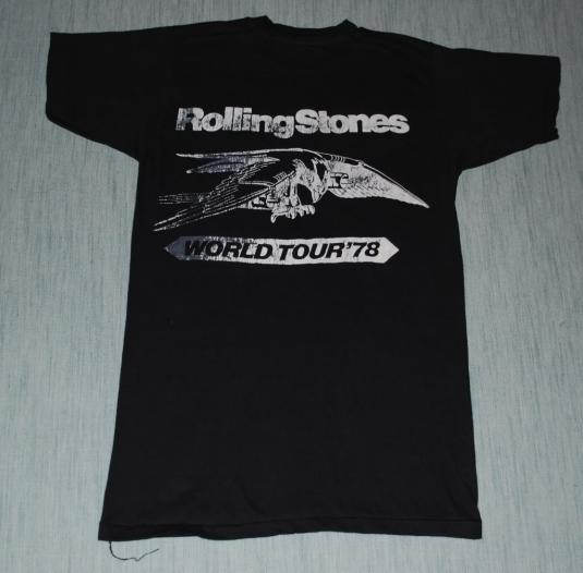VINTAGE THE ROLLING STONES IN CONCERT 1978 TOUR T-SHIRT *