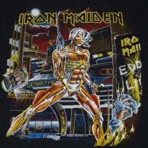 VINTAGE IRON MAIDEN SOMEWHERE IN TIME 1986 TOUR T-SHIRT *
