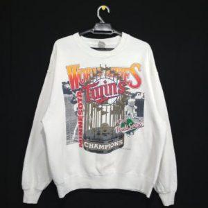 Vintage Minnesota Twins 1991 world series champion sweatshir