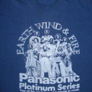 Vintage 1970's Earth Wind & Fire Panasonic Promo T Shirt