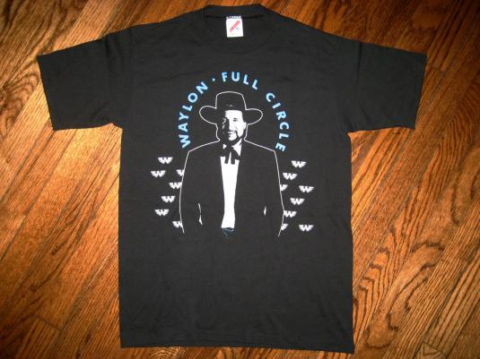 1988 Waylon Jennings Vintage Country Music Tour T-shirt