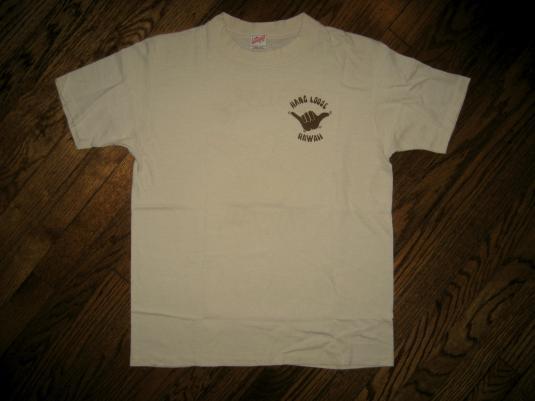 Vintage Hang Loose Poly Tees Hawaii beach T-shirt sunstrokes