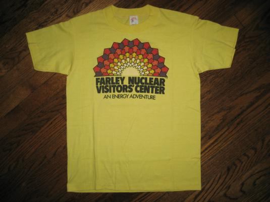 NUCLEAR Power Plant Energy Adventure Vintage 1980s T-shirt