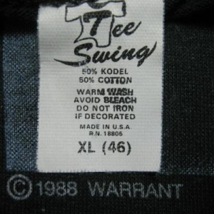 88 WARRANT Dirty Rotten Filthy Stinking RICH Vintage shirt