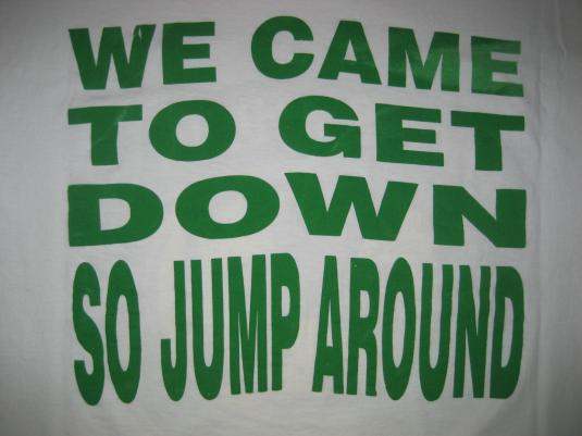 Vintage 1992 House of Pain Jump Around 90s rap t-shirt