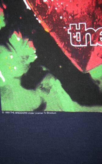 1993 The BREEDERS Last Splash Long Sleeved Vintage T-shirt
