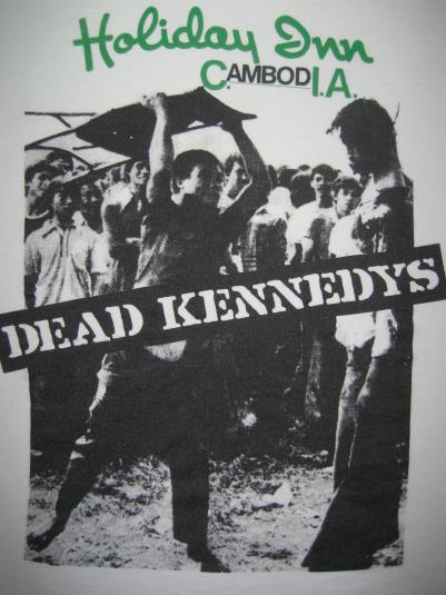 Vintage Dead Kennedys Holiday In Cambodia T-shirt Early 90s