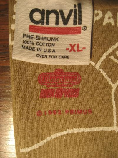1992 Primus San Pablo map All Over Print T-shirt vintage