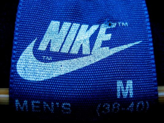 Vintage 80s M NIKE Blue Tag SWOOSH T-Shirt MEDIUM ORIGINAL