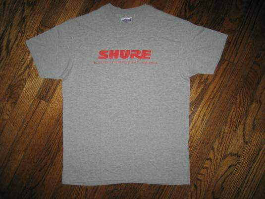 SHURE..Sound of Professionals microphone T-shirt 80s Vintage