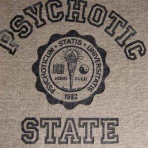 1982 Psychotic State Rayon T-shirt vintage 80s Sneakers M/L