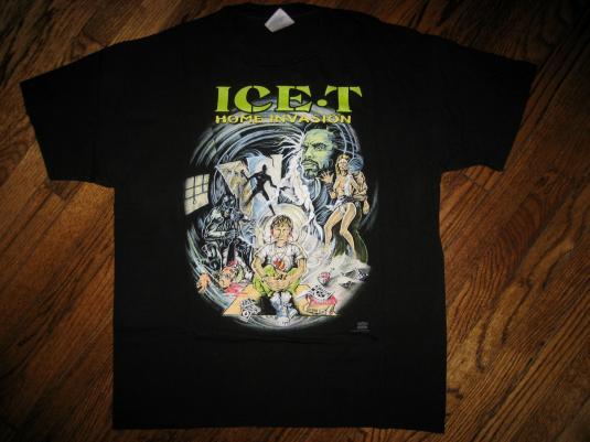 Original Vintage ICE-T 1993 HOME INVASION T-shirt OG Gangsta