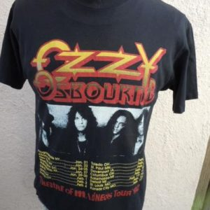 Reversed Ozzy Osbourne 1992 Theatre of Madness Concert Shirt