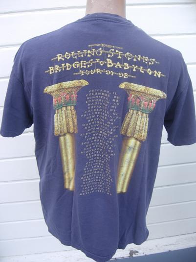 Rolling Stone Bridges to Babylon 1997-98 Tour Concert Shirt