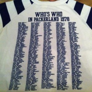 Super Rare Who's Who in Packerland Shirt - 1978