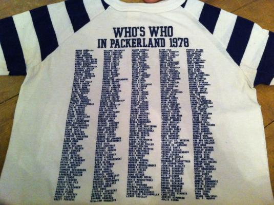 Super Rare Who's Who in Packerland Shirt – 1978